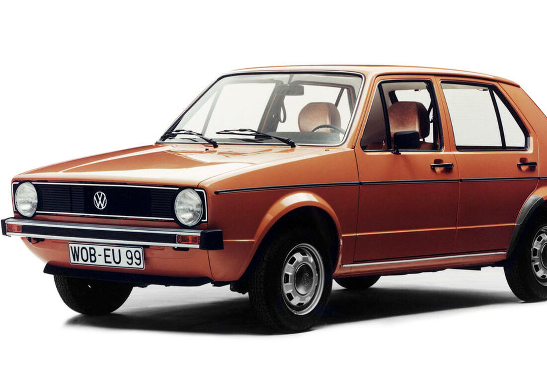 Oranger VW Golf / Caddy Oldtimer in Orange