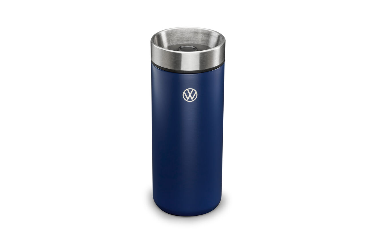 Blauer VW Thermobecher