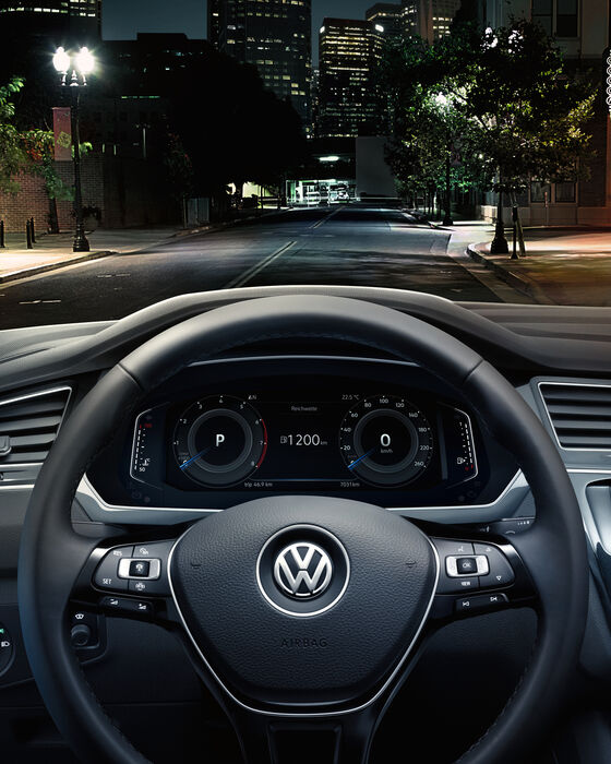 vw der neue tiguan multifunktionslenkrad active info display