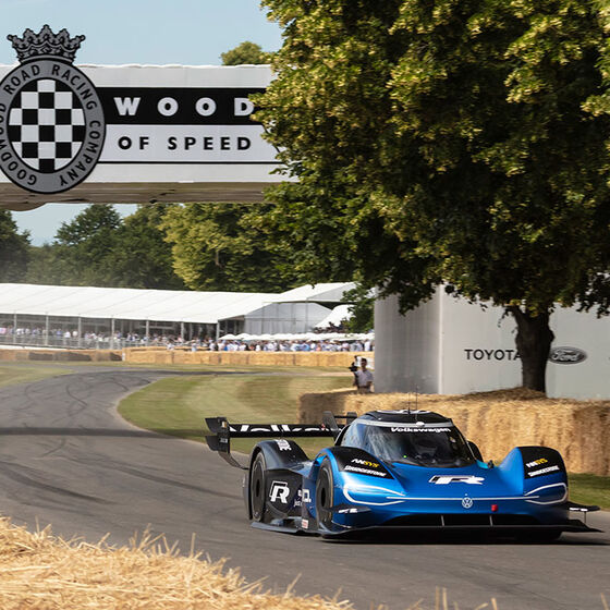 Der Volkswagen ID.R beim Goodwood Festival of Speed