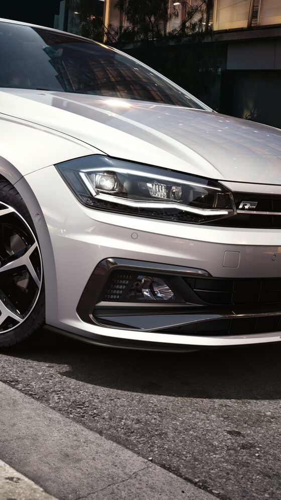 VW Polo R-Line silber Exterieur und Frontansicht